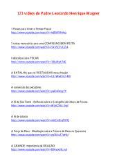 123 vídeos do Padre Leonardo Henrique Wagner.pdf