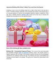 Impressive Birthday Gifts Online To Make The Loved Ones Feel Special.pdf