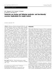 Substrate use during and following moderate- and low-intensity exercise Implications for weight control.pdf