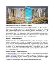 Gaur Sadar Bazar - High-Class Shopping Mall In Noida.PDF