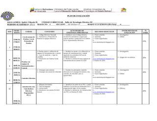 Formato de Plan de Evaluación Taller de Tecnologia Electrica III 2015-I.docx