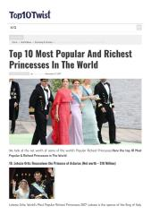 Top 10 Most Popular And Richest Princesses In The World.pdf