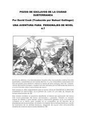 AD&D1 A1 Slave Pits of the Undercity [1980] {nv4-7} [trad Pozos de Esclavos de la Ciudad Subterránea].pdf
