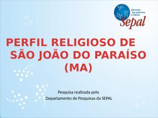 Perfil Religioso de São João do Paraíso.pptx