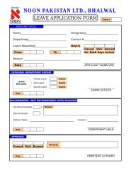 Leave Application Form.xls