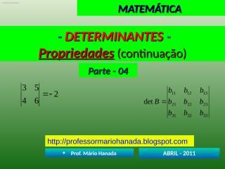 determinantes - parte - 04.pps
