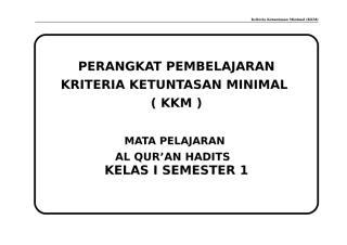 KKM QH KLS I SMT 1 - 2