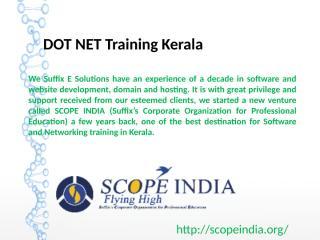 DOT NET Training Kerala.ppt