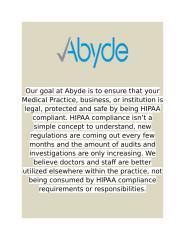HIPAA Compliance - Abyde.docx