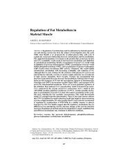 Regulation of Fat Metabolism in Skeletal Muscle.pdf