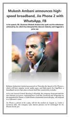 Mukesh Ambani announces high speed broadband Jio Phone 2 with WhatsApp FB.pdf