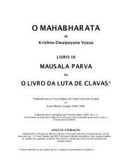 O Mahabharata 16 Mausala Parva em português.pdf