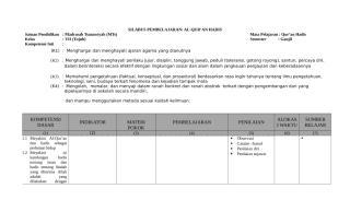 Silabus Al-Qur'an Hadis Kelas VII MTs-De Java.docx