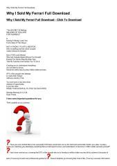 Why I Sold My Ferrari Full Download-html.pdf