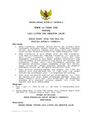 UU No 14 th 1992 lalu lintas dan angkutan jalan.pdf