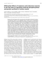 Differential effects of resistance and endurance exercise in the fed state on signalling molecule phosphorylation and protein synthesis in human muscle.pdf