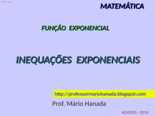 inequações exponenciais - agosto-2010 - powerpoint 97-2003.pps