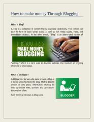 How to make money Through Blogging.pdf