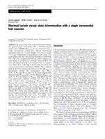 Maximal lactate steady state determination with a single incremental test exercise.pdf