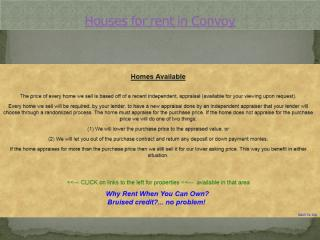 Houses for rent in Convoy.pptx